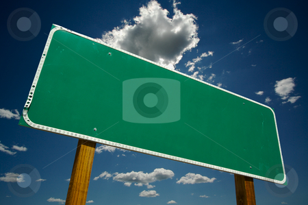 Blank Road Sign stock photo, Blank Road Sign - Ready for your own message. by Andy Dean