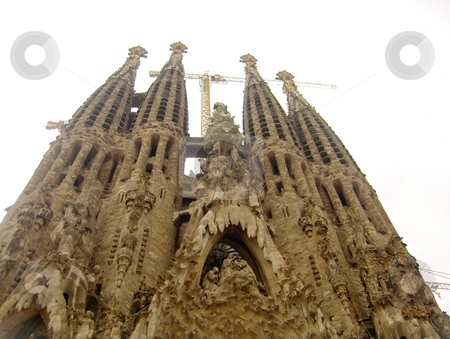 Sagrada Familia stock photo, Gaudi's unfinished cathedral by Jessica Tooley