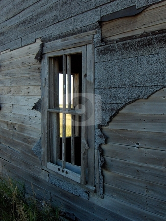 Abandoned stock photo, The view through a window in an old abandoned farmhouse. by Jessica Tooley