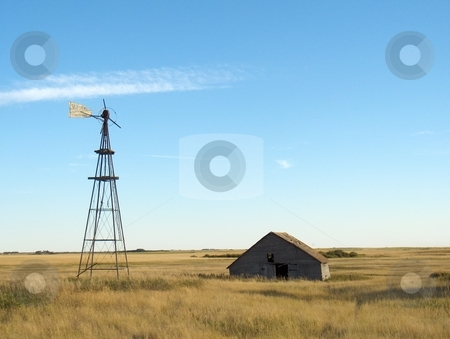 Old Farmyard stock photo, A run down abandoned farmyard on the prairies. by Jessica Tooley