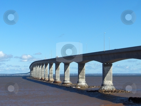 Confederation Bridge stock photo, The bridge over the Atlantic Ocean connecting New Brunswick and Prince Edward Island, Canada. by Jessica Tooley