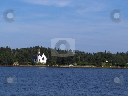 Maritime Church stock photo, A small rural church on the East Coast of Canada by Jessica Tooley