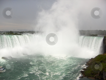 Niagara Falls Canada stock photo, A view of Niagara Falls from the Canadian side. by Jessica Tooley