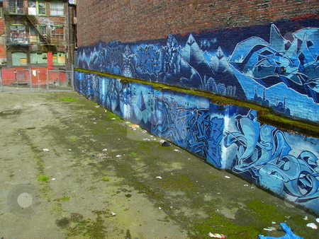 East Van stock photo, Image of graffiti in a vacant lot on the downtown eastside of Vancouver, Canada by Jessica Tooley