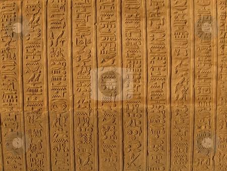 Hieroglyphics stock photo,  by Jessica Tooley