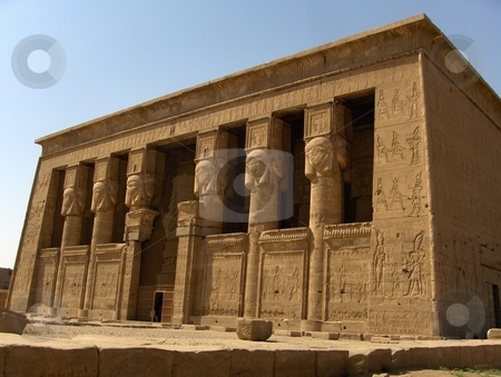 Dendera Temple stock photo, Dendera Temple in Egypt by Jessica Tooley