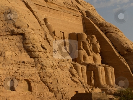Abu Simbel, Egypt stock photo, Abu Simbel site in Egypt. by Jessica Tooley