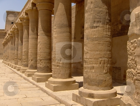 Karnak Temple Complex stock photo, Monument in the Karnak Temple in Luxor, Egypt. by Jessica Tooley