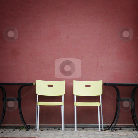 Sidewalk Cafe stock photo, Two empty chairs at a sidewalk cafe. by Nathan Smith