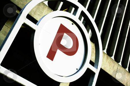 Parking stock photo, A large