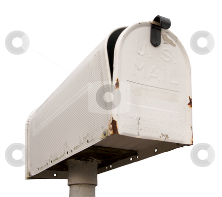 Weathered Old Mailbox Isolated stock photo, Weathered Old Mailbox Isolated on a White Background by Andy Dean