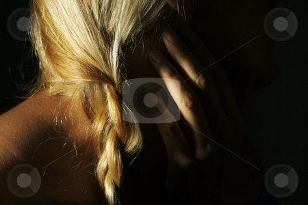 Abstract Blonde stock photo, Abstract Blonde with Dramatic Lighting by Andy Dean