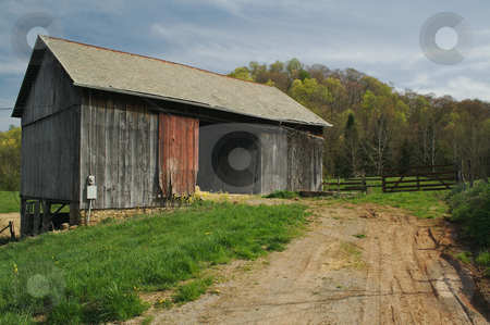 Abandoned Barn stock photo, Abandoned barn and country scene. by Andy Dean