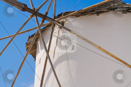 Windmill on Santorini Greece stock photo, Windmill on Santorini Greece by Andy Dean