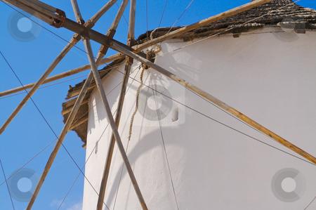 Windmill on Santorini Greece stock photo, Windmill on Santorini Greece by Andy Dean