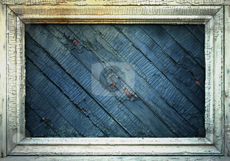 Chipped and Cracked stock photo, Wooden boards with chipped paint. by Nathan Smith