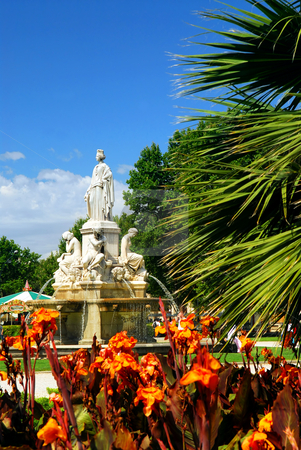 City park in Nimes France stock photo, Lush green park in city of Nimes in southern France by Elena Elisseeva