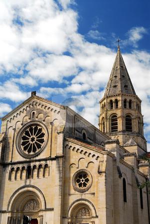Gothic church in Nimes France stock photo, Gothic church in city of Nimes in southern France by Elena Elisseeva
