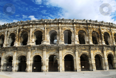 Roman arena in Nimes France stock photo, Roman arena in city of Nimes in southern France by Elena Elisseeva