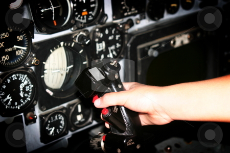 Control stock photo, The inside of a helicopter with all its controls. by Henrik Lehnerer