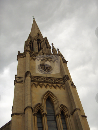 Church Spire stock photo, Looking up at a church spire in Bath, England. by Jessica Tooley