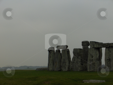 Stonehenge stock photo, Stonehenge on a grey winter day. by Jessica Tooley