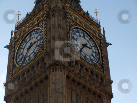 Big Ben Close Up stock photo, A close-up of Big Ben's clock faces. by Jessica Tooley
