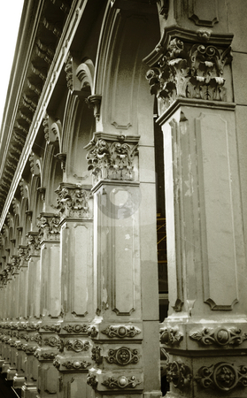Endless Columns stock photo, Decorative arches and columns. by Nathan Smith
