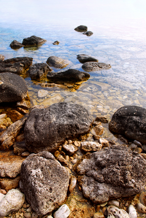 Rocks in clear water stock photo, Rocks in clear water of Georgian Bay at Bruce peninsula Ontario Canada by Elena Elisseeva
