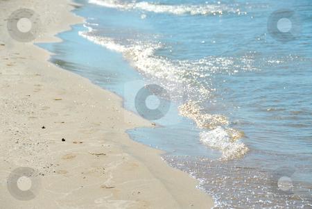 Beach wave stock photo, Wave on sandy beach by Elena Elisseeva