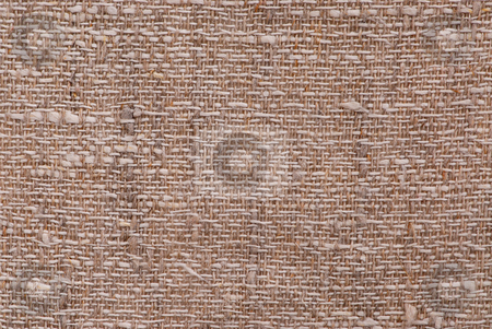Linen fabric texture stock photo, Closeup of a linen fabric texture of natural color by Elena Elisseeva