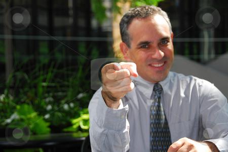 Businessman pointing stock photo, Businessman pointing finger by Elena Elisseeva