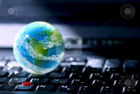 Internet computer business stock photo, Concept of global internet connectivity or international business by Elena Elisseeva