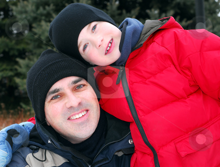 Father and son stock photo, Portrait by Elena Elisseeva