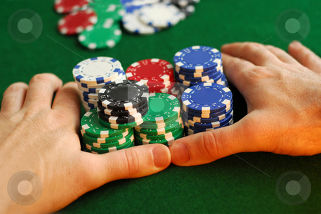 All in stock photo, Poker player going