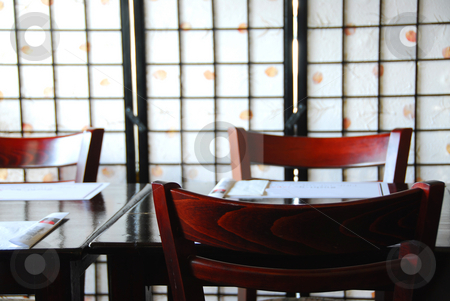 Japanese restaurant stock photo, Interior of a empty modern japanese restaurant by Elena Elisseeva