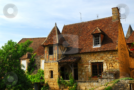 Medieval house in Sarlat, France stock photo, Medieval house in Sarlat, Dordogne region, France by Elena Elisseeva