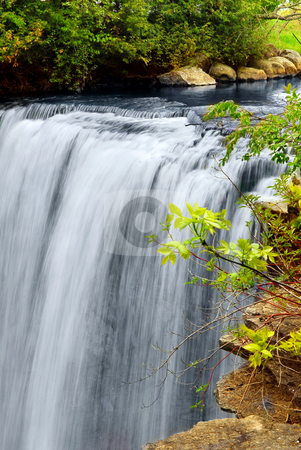 Waterfall stock photo, Scenic waterfall in wilderness in Ontario Canada by Elena Elisseeva