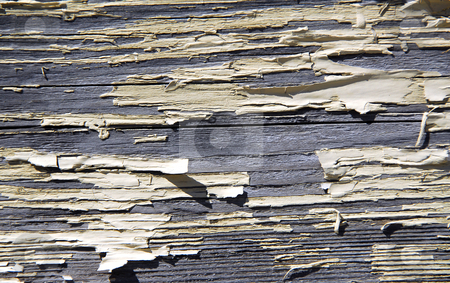 Old wood background stock photo, Background of old wood with peeling paint by Elena Elisseeva