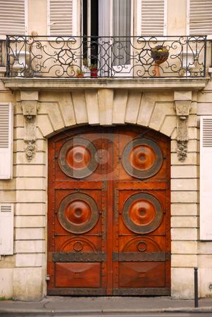Doors stock photo, Wooden doors in old building in Paris France by Elena Elisseeva
