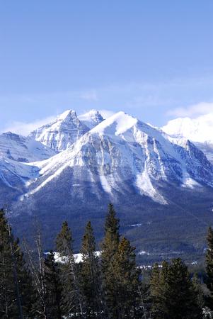 Mountain landscape stock photo, Scenic winter mountain landscape in Canadian Rockies by Elena Elisseeva