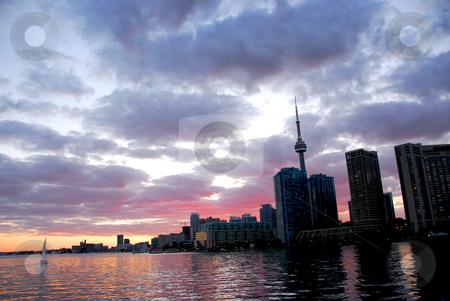 Toronto city skyline stock photo, Toronto city skyline at sunset by Elena Elisseeva