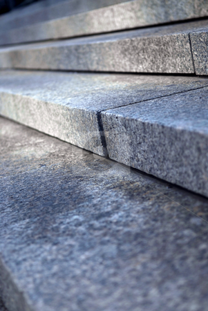 Stone steps stock photo, Stairway with granite stone steps in perspective close up by Elena Elisseeva