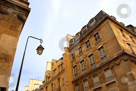 Paris street stock photo, Street with old buildings in Paris, France by Elena Elisseeva
