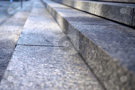 Stone steps stock photo, Stairway with granite stone steps in perspective, close up by Elena Elisseeva