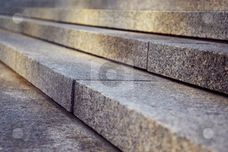 Granite stairs stock photo, Close up on granite stairs in perspective with sunlight by Elena Elisseeva