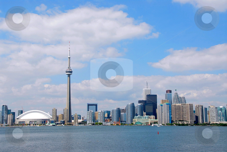 Toronto city skyline stock photo, Toronto city skyline on a bright summer day by Elena Elisseeva