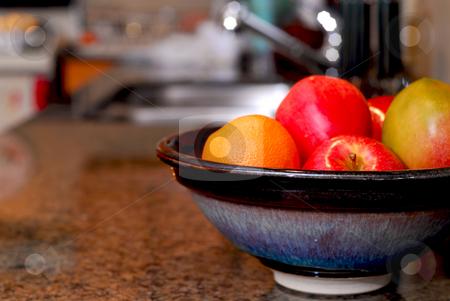 Kitchen interior stock photo, Interior of a modern kitchen with natural granite countertop by Elena Elisseeva