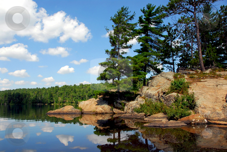 Scenic lake stock photo, Scenic lake landscape at Algonquin provincial park, Ontario, Canada by Elena Elisseeva