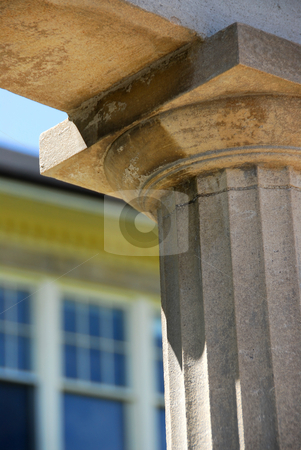 School building stock photo, Fragment of a high school building with a column by Elena Elisseeva